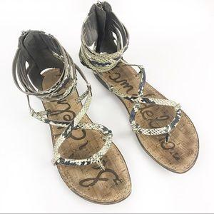 SAM EDELMAN | Green Snake Glenda Sandals 8M
